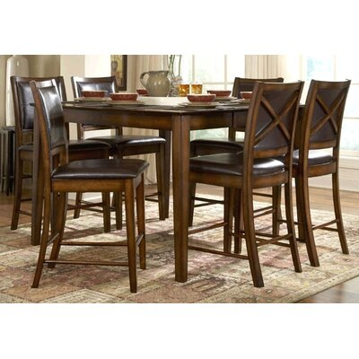 Woodbridge Home Designs 727 Series 7 Piece Counter Height Dining Set