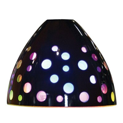 "Bruck Lighting 4.5"" Rainbow Glass Bell Pendant Shade"