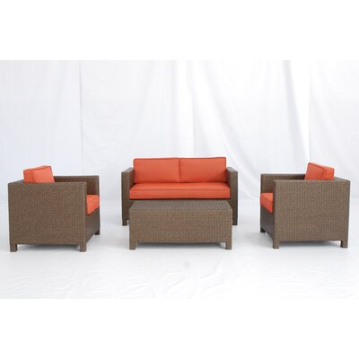 Creative Living Salinas 4 Piece Deep Seating Group with Cushions