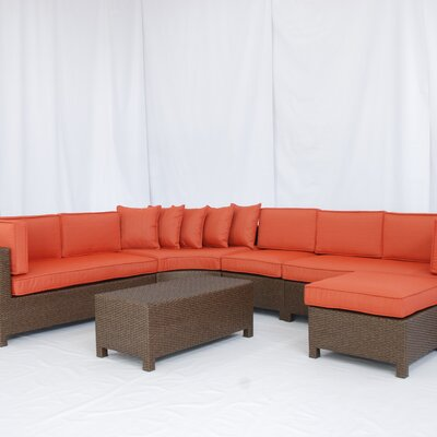 Creative Living Salinas 6 Piece Sectional Deep Seating Group with Cushions