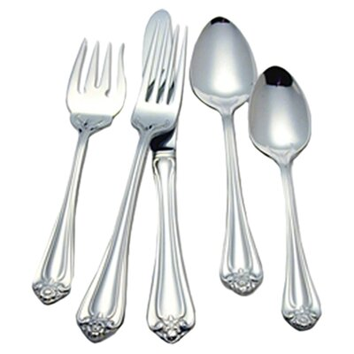 <strong>Reed & Barton</strong> Roseland 5 Piece Flatware Set