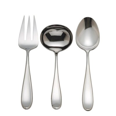 Holliston 3-Piece Serving Set in Bright Mirror