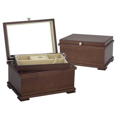 Baily Jewelry Chest in Light Walnut