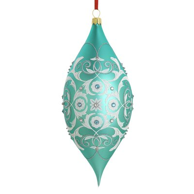 Reed & Barton Intaglio Blown Glass Ornament