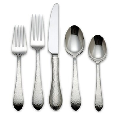 Reed & Barton Hammered Antique 5 Piece Flatware Set