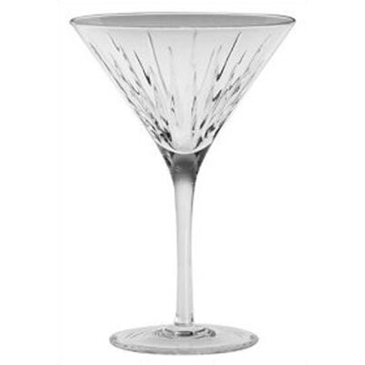 Crystal Soho Martini Glass with Olive Picks (Set of 2)