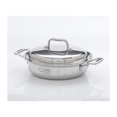 2.3-Qt. Stainless Steel Round Casserole Pot