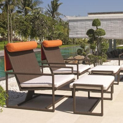 Dann Foley Malibu Lounge Chair and Ottoman with Cushions