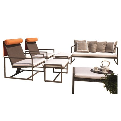 Dann Foley Malibu 6 Piece Deep Seating Group with Cushions