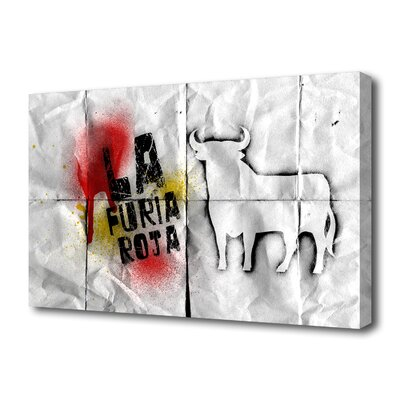 "Th-Ink Art ""La Roja"" Graphic Art on Canvas"