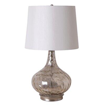 "Illuminada 3-Way 25.5"" Mercury Glass Gourd Table Lamp"