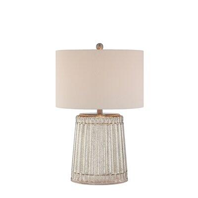 """Illuminada 3-Way 25"""" Ribbed Mercury Glass Table Lamp"""