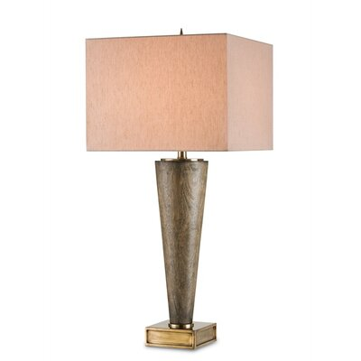 "Currey & Company Kerry 35"" H Table Lamp with Rectangle Shade"