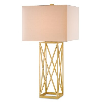 "Currey & Company Clemente 34"" H Table Lamp with Rectangle Shade"