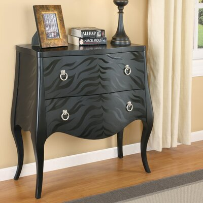 Wildon Home ® Zebra Pattern Console Table