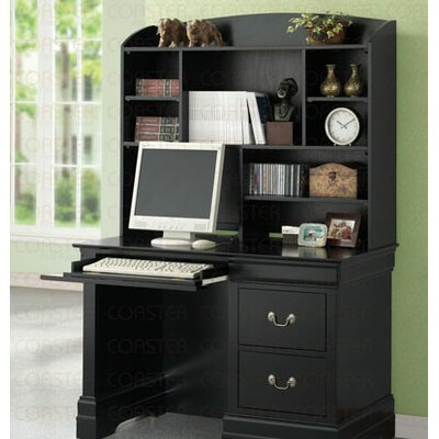 Wildon Home ® Fountain Hills Computer Desk with Hutch