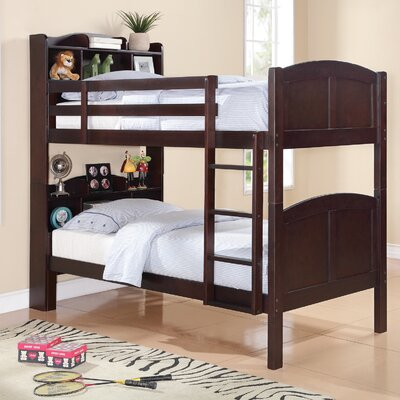 Tony Twin Over Twin Bunk Bed with Bookcase