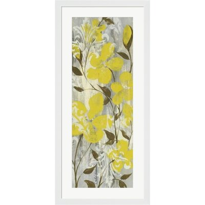 Buttercups on Grey II by Jennifer Goldberger Framed Painting Print