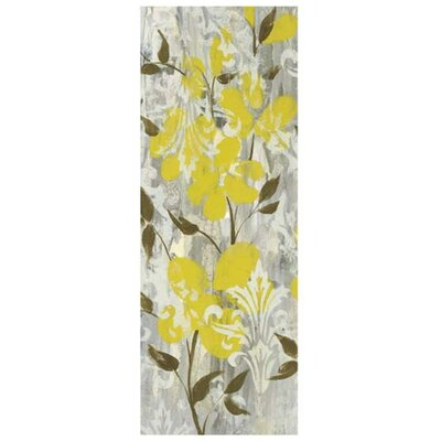 Buttercups on Grey I by Jennifer Goldberger Painting Print