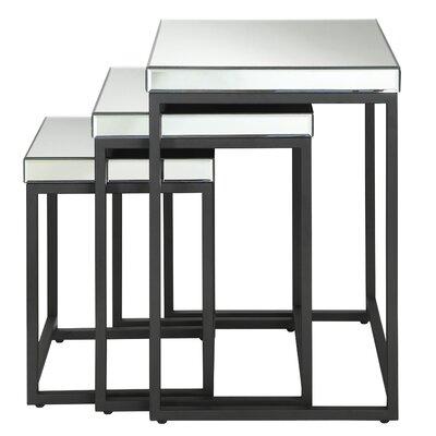 OSP Designs Krystal 3-Piece Nesting Table