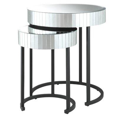 OSP Designs Krystal 2-Piece Nesting Tables