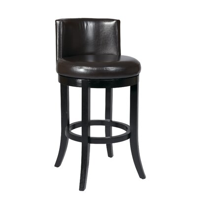 "OSP Designs Metro Bonded Leather 30"" Swivel Barstool"