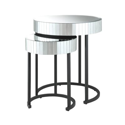 OSP Designs Krystal 2-Piece Nesting Tables
