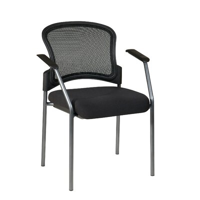 OSP Designs ProGrid Contour Back Visitors Chair with Arms