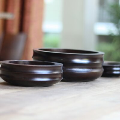 3 Piece Acacia Wood Bowl Set