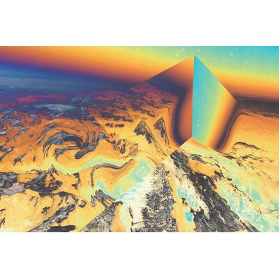 'Alps Perspective' Graphic Art on Canvas