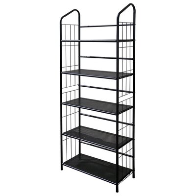 ORE Furniture 5 Tier Book Shelf in Black