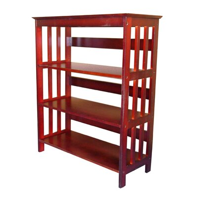 ORE Furniture 3 Tier Bookcase in Cherry