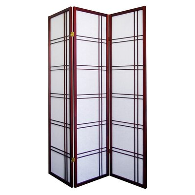 ORE Furniture Girard 3 Panel Room Divider in Cherry