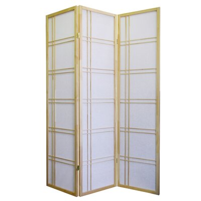 ORE Furniture Girard 3 Panel Room Divider in Natural
