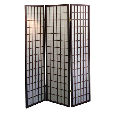 ORE Furniture 3 Panel Room Divider in Cherry