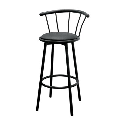 "ORE Furniture 29"" Swivel Barstool in Black (Set of 2)"