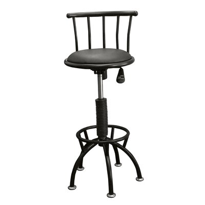 ORE Swivel Barstool with Adjustable Height in Black