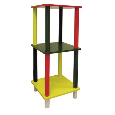 "ORE Furniture Kid's 3 Tier Square 28.5"" Bookcase"