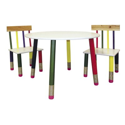 ORE Furniture 3 Piece Kid's Table