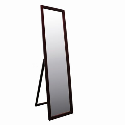 Full Length Stand Mirror in Walnut