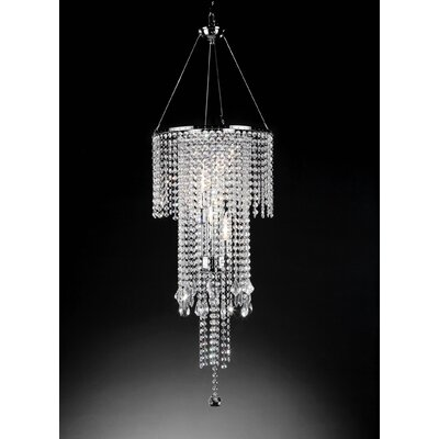 ORE Furniture Rain 5 Light Ceiling Lamp