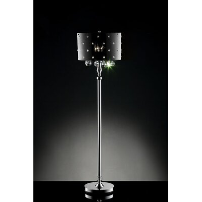 ORE Furniture Star Crystal 3 Light Floor Lamp
