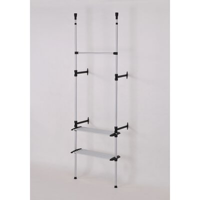 ORE Furniture Telescopic 2 Tier Clothes Rack