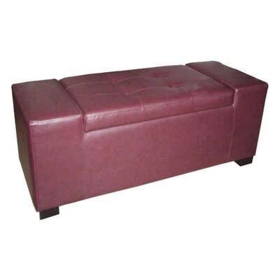 ORE Furniture Faux Leather Storage Bench
