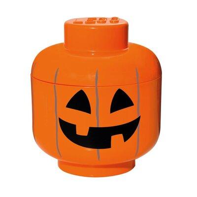 LEGO by Room Copenhagen Small Storage Head Pumpkin Toy Box