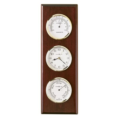 Howard Miller® Weather and Maritime Shore Station Wall Clock