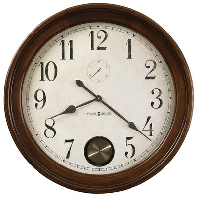 Howard Miller® Auburn Quartz  Wall Clock in Hampton Cherry
