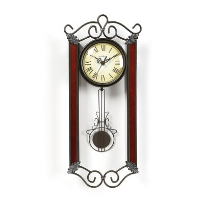 Howard Miller® Carmen Wrought - Iron Quartz Wall Clock