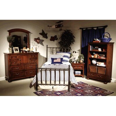 LC Kids American Spirit Two Drawer Bookcase in Distressed Medium Brown Cherry
