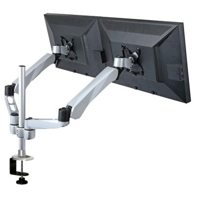 Height Adjustable Two Monitor Computer Desk Mount with Spring Arm